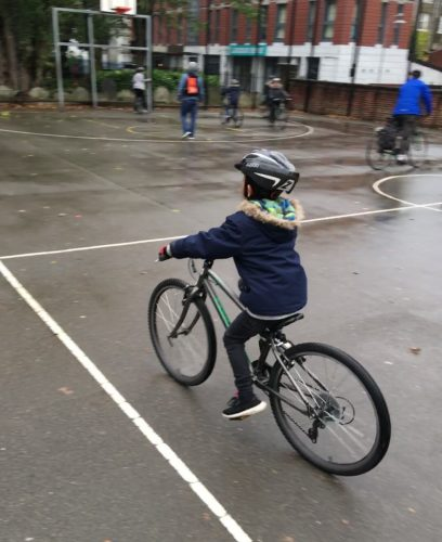 Student cycles 1st time 2